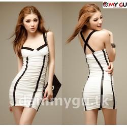 Đầm ôm Body Sexy quyến rũ D191 - Trắng