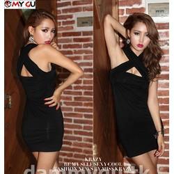 Đầm ôm Body Sexy quyến rũ D192 - Màu đen