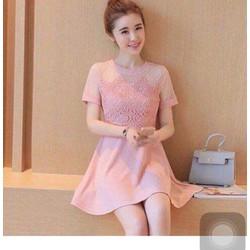 Đầm xoè màu hồng dễ thương