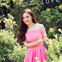 Đầm hồng xòe xếp ly phồi lưới thời trang xinh như Phương trinh DXV17