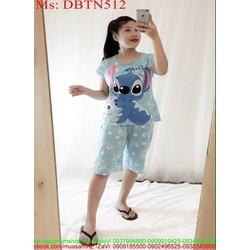 Đồ bộ nữ mặc nhà lửng hình stick đáng yêu DBTN511