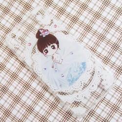 Ốp lưng silicon iPhone 6-6S hình cô gái bông hoa dễ thương mẫu 2