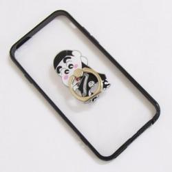Ốp lưng nhựa dẻo iPhone 6-6S-6G 4.7 viền màu đen trong suốt mẫu 3