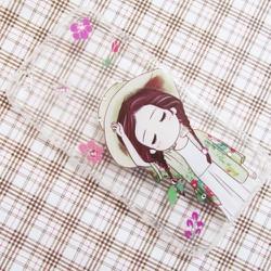 Ốp lưng silicon iPhone 6-6S hình cô gái bông hoa dễ thương mẫu 5