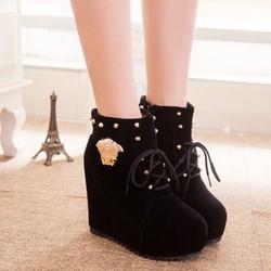 Giày boot nữ đế xuồng B056