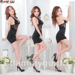 Đầm ôm Body Sexy phối ren D194 - Màu đen