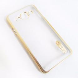 Ốp lưng dẻo Samsung Galaxy A3 dạng sần viền màu