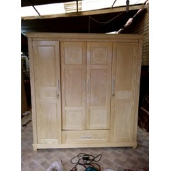 Tủ áo gỗ sồi Mỹ gỗ tự nhiên