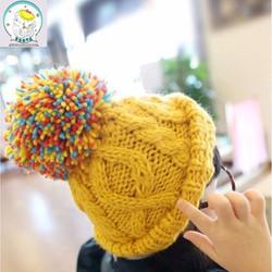mũ len quả trám cho bé
