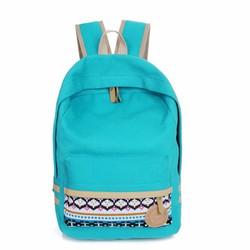 Balo đi học màu xanh dương thời trang – W263