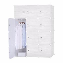 Tủ nhựa lắp ráp thông minh 12 ô vân gỗ 1 cửa 146 x 47 x 110 cm