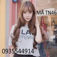 Tóc nữ mái thưa gợn sóng TN46