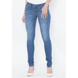 Quần jeans ống ôm xanh dương