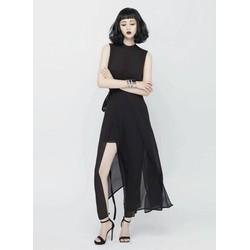 Váy maxi đi biển đẹpxẻ nhiều tà như Angela Phương Trinh M31034