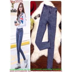 Quần jean nữ xanh bạc sành điệu thời trang QD329