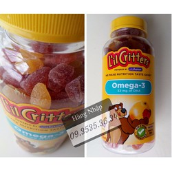 Kẹo dẻo bổ sung Omega3 DHA giúp trẻ thông minh vượt trội - 180 viên