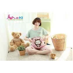 Bộ đồ sau sinh mùa hè - Bộ ngố gấu Panda - BNT12250 Cotton