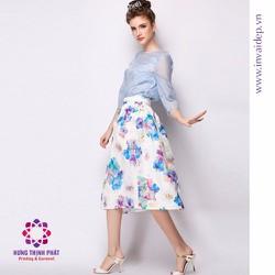 vải may đầm, váy giá rẻ