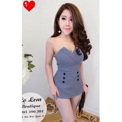 Jum short ống cúp ngực giả váy - A27428
