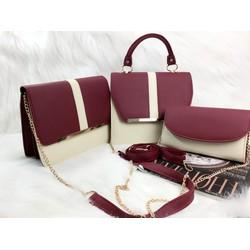 Set 3 túi đeo chéo nữ thời trang, kiểu dáng sang trọng
