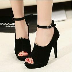 giày cao gót hở mũi thời trang