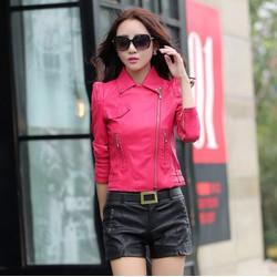 #937 - Áo khoác da cổ bẻ Hàn Quốc thời trang cao cấp - giá 1.320k