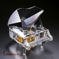 Hộp nhạc piano trong suốt V1 - music box candyshop88.vn
