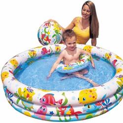 Bộ hồ bơi phao và bóng intex 3 tầng cho bé DSA447