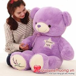 Gấu bông dễ thương Lavender tím 80cm