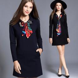 Đầm suông cáo cấp nữ thời trang quý phái sang trọng 2016