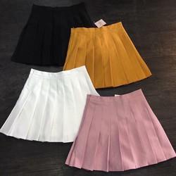 Chân váy quần xếp ly siêu hot, y hình