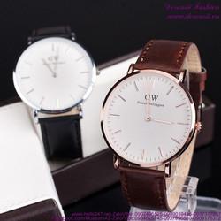 Đồng hồ cặp tình nhân DW dây da mẫu mới sành điệu DHTN143