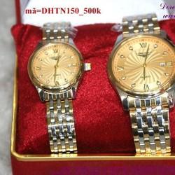 Đồng hồ tình nhân inox Longin quà tặng iu thương DHTN150