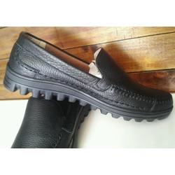 Giày mọi nam da mềm đơn giản