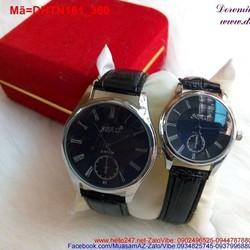 Đồng hồ cặp tình nhân màu đen huyền bí sang trọng DHTN161