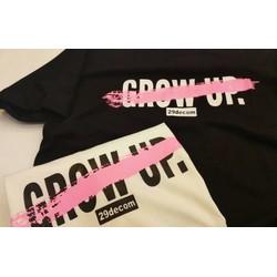 [XƯỞNG CHUYÊN SỈ] ÁO THUN GROW UP TRẮNG ĐEN HÀNG LOẠI 1 SHOPKT91