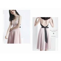 Đầm xoè hai dây nơ lưng - dress Quyến Rũ