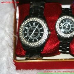 Đồng hồ cặp tình nhân đính đá Rosra sanh chảnh DHTN158
