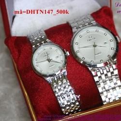 Đồng hồ tình nhân inox Ome quà tặng iu thương DHTN147