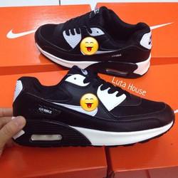 Giày thể thao nam nữ  Air Max đen