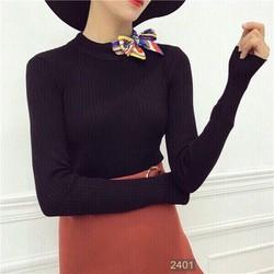 Áo len tay dài nơ y hình