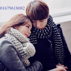 khăn len đôi  nam nữ Dạ khúc cho tình nhân thiết kế Korean