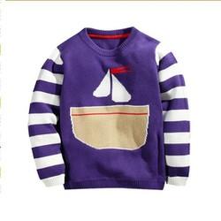 Áo len cho bé tím hình buồm