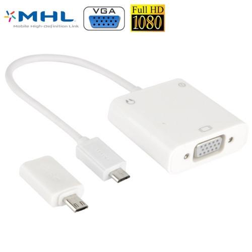 Cáp MHL to VGA cho điện thoại Samsung LG HTC có hỗ trợ Audio 7