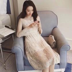 Đầm ren Quảng Châu cao cấp