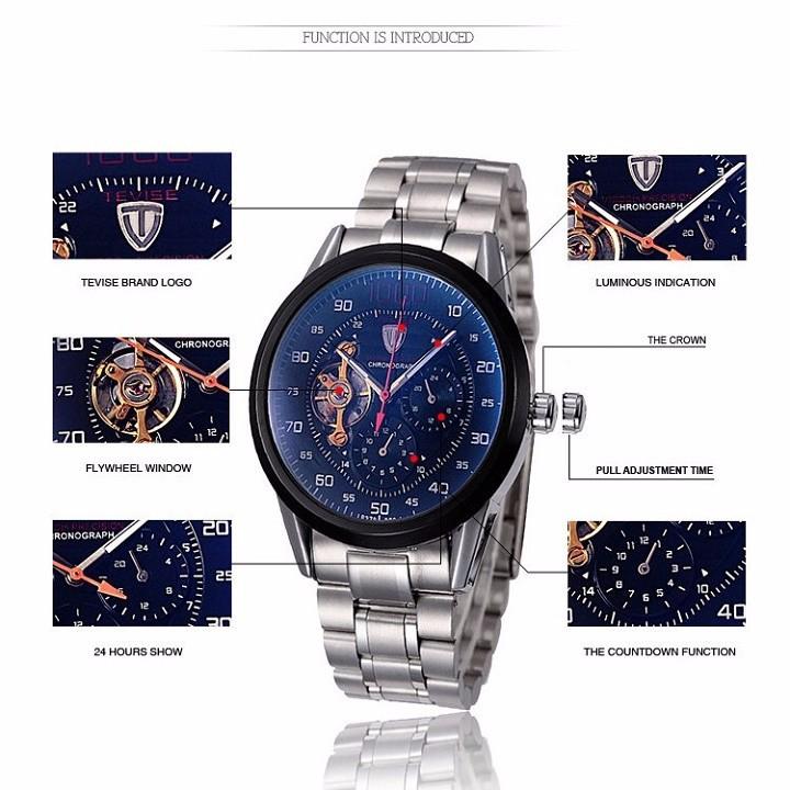 Đồng hồ tự động lộ máy cao cấp TEVISE 1000 5