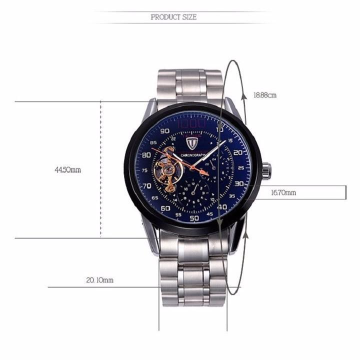 Đồng hồ tự động lộ máy cao cấp TEVISE 1000 6