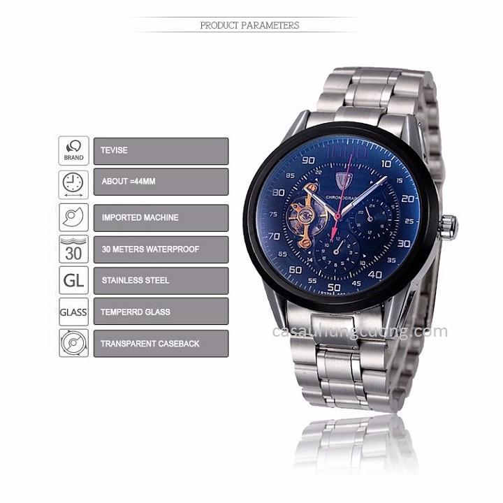 Đồng hồ tự động lộ máy cao cấp TEVISE 1000 4