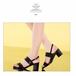 HÀNG LOẠI 1 : Giày sandal 2 quai ngang màu đen