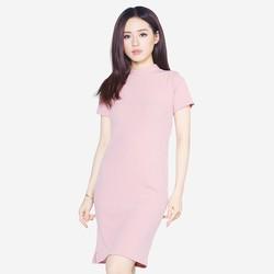 Áo váy đầm len mỏng dáng form dài midi ngắn tay cổ tròn DAM 0061 BP
